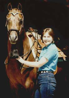 portrait of Julie with young pleasure horse